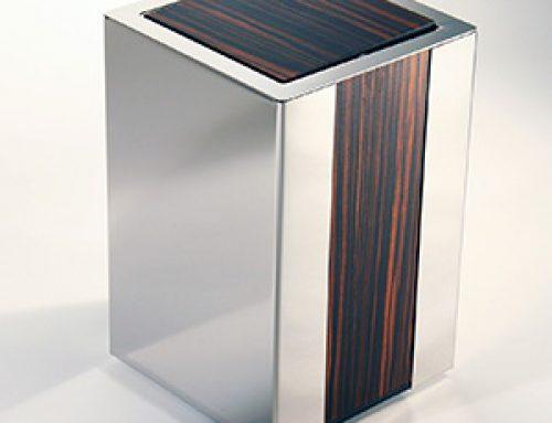 Abfallbehälter Holz